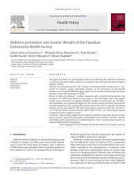 academic paper pdf diabetes prevalence and income results of academic paper pdf diabetes prevalence and income results of the canadian community health survey