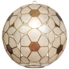 1960s capiz shell floral globe light fixture capiz shell lighting fixtures