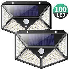 30/40/<b>100LED Solar PIR</b> Motion Sensor Wall Lamps Waterproof ...