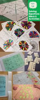 best ideas about solving equations algebra ideas and activities for teaching solving equations in algebra
