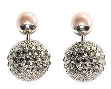 authentic christian dior mise en dior pink black crystal pearl tribal earrings r authentic black crystal