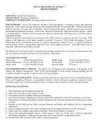 phlebotomy technician resume resume formt cover letter examples patient care technician resume sample