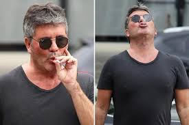 up in smoke Simon Cowell spotted on cigarette break after revealing ...