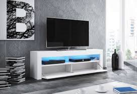 Home, Furniture & DIY Modern White <b>Tv Unit</b> 140 <b>cm Tv Stand</b> Grey ...