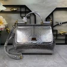<b>2019 New</b> Medium Sized Handbag, <b>Women'S Bag</b>, Silver <b>Cowhide</b> ...