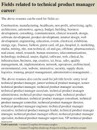 16 fields related to technical product manager junior product manager resume