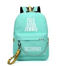 Online Shop BLACKPINK JISOO Rose Lisa Travel <b>Backpack</b> USB ...