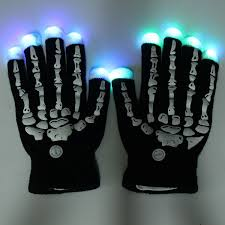 led knitted gloves seven light effects halloween women men skull hand mittens flashing fingertip light costumes cheap lighting effects