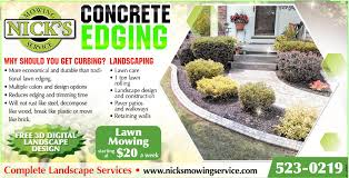 nick s mowing service concrete edging services ads from nick s mowing service home improvements ads from buffalo news