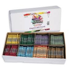 Buy <b>Color</b> Splash!® Crayons - <b>8 Colors</b> (<b>Box</b> of 800) at S&S Worldwide