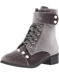 <b>Hot Sale</b>: YOKI Women's Bata Ankle Boot, Grey, <b>6 M</b> US
