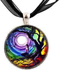Chakra Pendant Tree of Life Meditation Necklace ... - Amazon.com