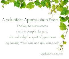 Thank You Volunteers Poems - Volunteer Appreciation Poem - Poem to ... via Relatably.com