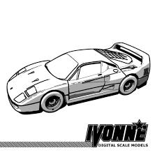 Download 3D <b>printing</b> files <b>Ferrari F40</b> Super car ・ Cults