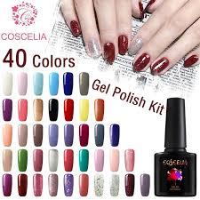 Coscelia <b>40pcs</b> Semi Permanent Gel <b>Nail Polish</b> Kit 8ml/0.28oz ...