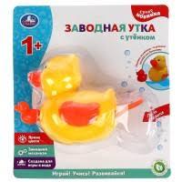 """<b>Заводная игрушка для</b> ванны """"Утка с утёнком"""" Умка купить по ..."""