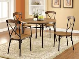 Industrial Style Kitchen Table Furniture Of America Cm3827rt Crosby 5 Pieces Industrial Style