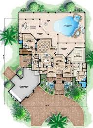 images about house designs for sims on Pinterest   House    First Floor Plan of Florida Mediterranean House Plan