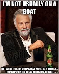 I'm not usually on a boat but when i am, I'm sailing fast wearing ... via Relatably.com