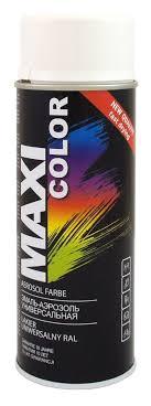 <b>Эмаль</b>-<b>аэрозоль MAXI</b> COLOR черная глянцевая RAL9005 400мл ...