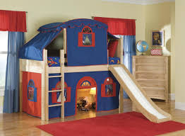 marvelous cool kid beds with cream wooden bunk bed tent be equipped red blue fabric tent bedroom kids bed set cool beds