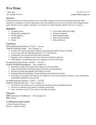 best personal financial advisor resume example livecareer choose
