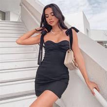 <b>Мини</b>-<b>платье</b> LISM с бантом, сексуальное облегающее платье ...