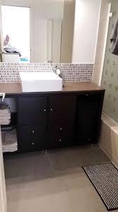 installed ikea bathroom vanity