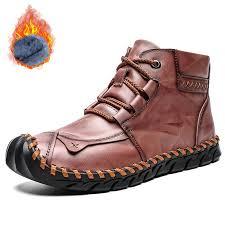 <b>SENBAO Men's</b> Autumn Winter Lace-up <b>Boots</b> Easy-match Non-slip ...