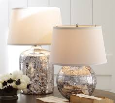 marley antique mercury glass table lamp bases pottery barn artisan blown glass lamps