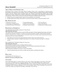 example adult education instructor resume   free sample