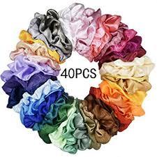 Mcupper 40 Pcs Hair Silk Scrunchies Satin Elastic ... - Amazon.com