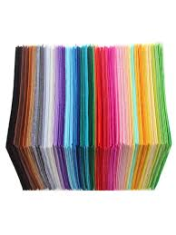 Buy <b>40 Pcs</b> Non-Woven Fabrics Mix-Color <b>1mm Thickness</b> Cloths ...