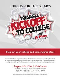 triangle kickoff to college 2016 raleigh tutoring sat act