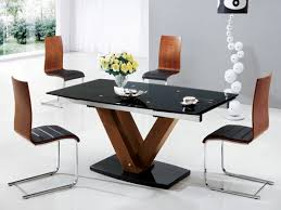 round glass extendable dining table:  round dining table mahogany wood extravagant rectangular wooden and clear glass top leather modern