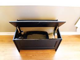 interesting dark maple cat litter box furniture with sand and water under black cover cat litter box furniture 2