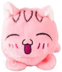 Купить <b>Игрушка мягкая Button Blue</b> Мячик-кот розовый 7см с ...