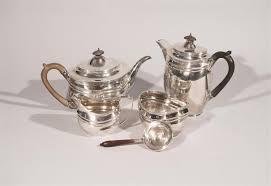 Lot - ENGLISH SILVER <b>THREE PIECE COFFEE</b>/TEA SERVICE ...