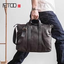 <b>AETOO Original handbag leather</b> men <b>bag</b> handmade business <b>bag</b> ...