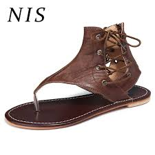 NIS <b>Big Size 36 43 Women</b> Sandals Shoes Woman Gladiator ...