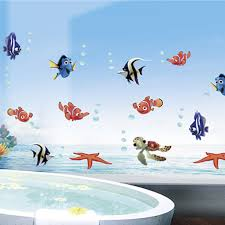 popular lovely sea <b>Fish</b> NEMO <b>cartoon</b> home decals <b>wall sticker</b> ...