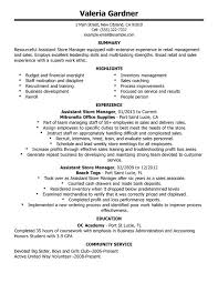 unforgettable assistant store manager resume examples to stand out    assistant store manager resume sample