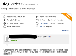 how elance writing jobs helped one writer earn last year job ad
