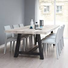 delivery dorset natural real oak dining set: oak dining table solid oak amp steel industrial a frame dining table free delivery
