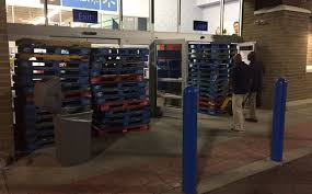 we out like the taliban charlotte protesters fought off by but walmart staff had blocked the entrance by stacking wooden pallets