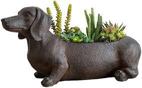 CHEXIAOhuapen Resin Vintage Plants Planter Pots Lucky Dogs ...