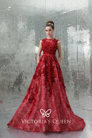<b>Luxury Beaded</b> & Embroidered Red <b>Evening Formal</b> Gown - VQ