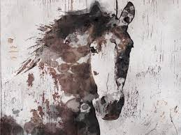horse wood wall art