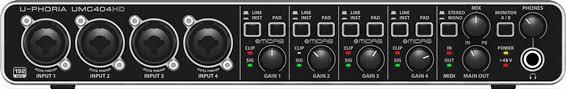 <b>Behringer U</b>-<b>Phoria UMC404HD</b> USB <b>аудио интерфейс</b>