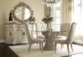 Mirror Dining Room Tables Spectacular Dining Room Sets With Upholstered Chairs Improving